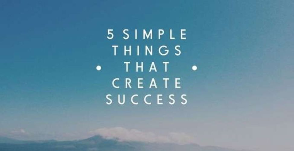 5 Simple Things to Success Picture
