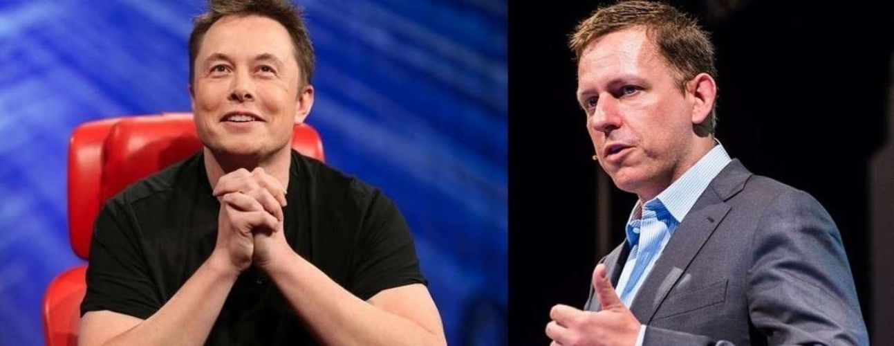 Elon Musk and Peter Thiel Picture